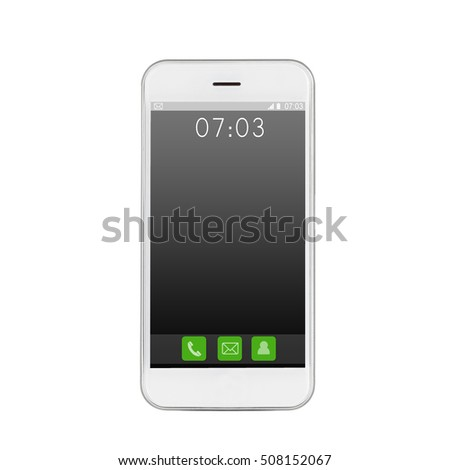 Modern touch screen smartphone with mobile interface