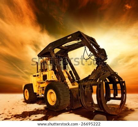 Modern tractor - stock photo