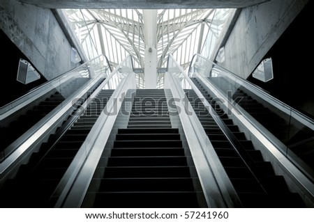 Modern train station in Lisbon, Portugal - stock photo