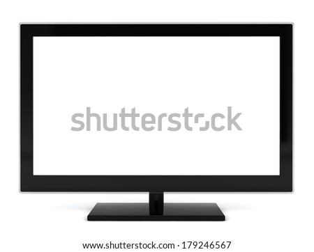 Modern tv. 3d illustration on white background
