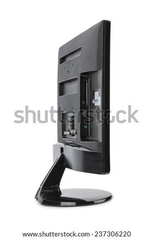 Modern TV isolated on white background - stock photo