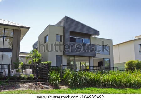 Modern two story Australian house front