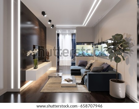 modern urban contemporary living room hotel stock illustration 658707946 shutterstock. Black Bedroom Furniture Sets. Home Design Ideas