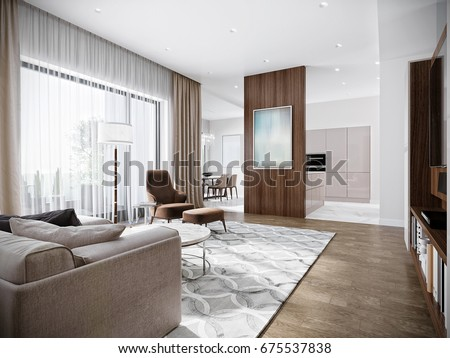 Modern urban contemporary living room hotel stockillustration
