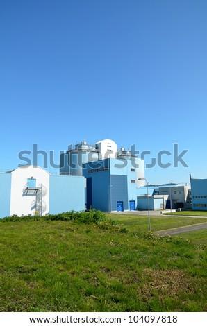 Modern urban wastewater treatment factory. - stock photo