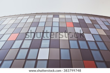 Modern Wall. Abstract architectural pattern - stock photo