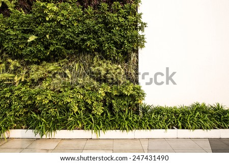 Modern wall design - stock photo
