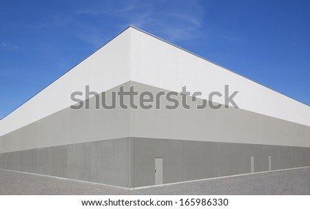Modern Warehouse Building Exterior - stock photo