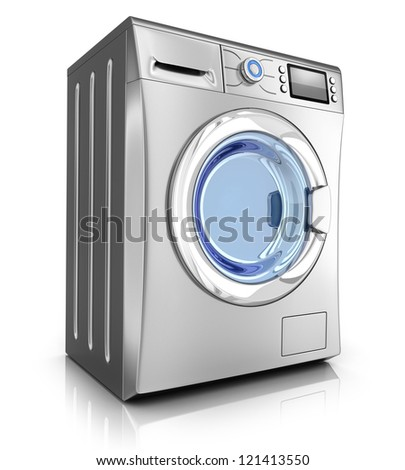 Modern washer on white background (done in 3d)