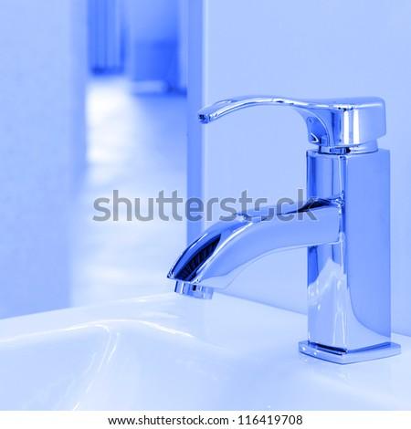 Modern water crane - stock photo