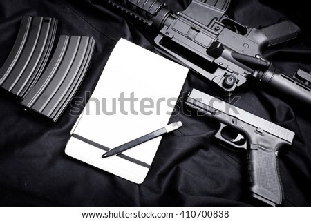 modern weapon, black background