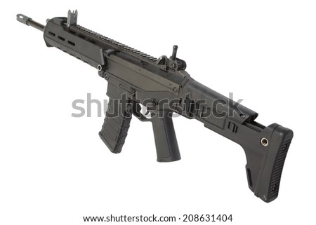 Modern Weapon System isolated - stock photo