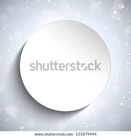 Modern White Circle Glowing Effects - stock photo