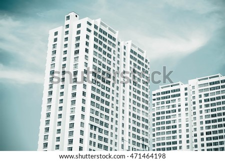 Modern White condominium building