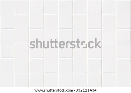 modern white wall made of pale color bricks mosaic in rectangle form - stock photo