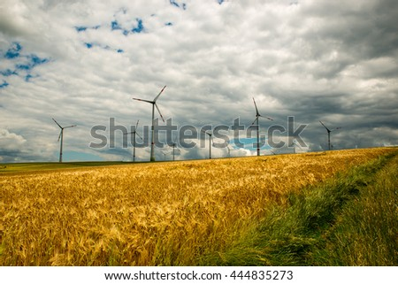 modern wind turbine in the field