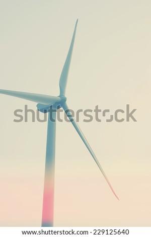 Modern Wind Turbine on a Wind Farm - stock photo