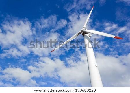 Modern windmill - stock photo