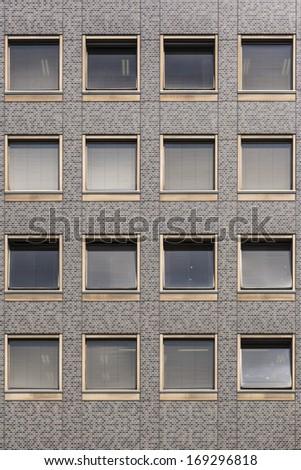 Modern windows building - stock photo
