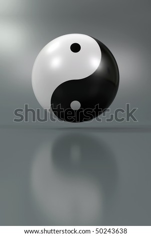 Modern Yin Yang symbol on a diffuse background