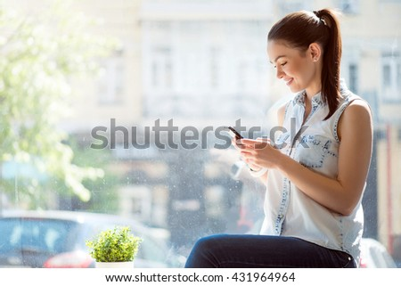 Modern young business woman  - stock photo