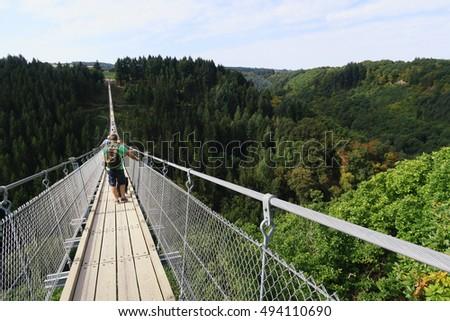 Simple suspension bridge stock photos royalty free for Simple suspension hanging