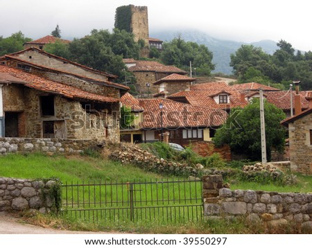 Mogrovejo, an old town in the northern of Spain