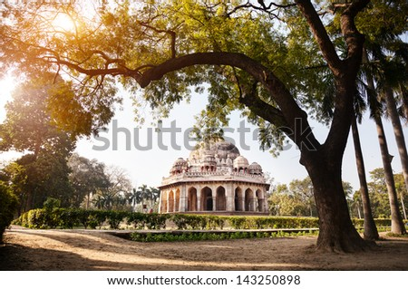 Mohammed Shahs tomb in Lodi Garden, New Delhi, India - stock photo