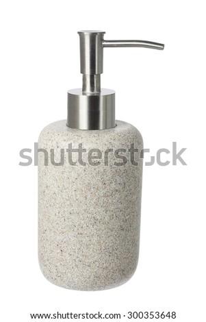 Moisturizer Dispenser on White Background - stock photo