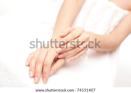 Moisturizer hand cream - stock photo