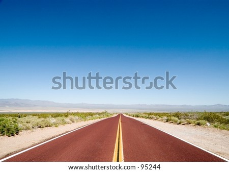 Mojave desert - stock photo