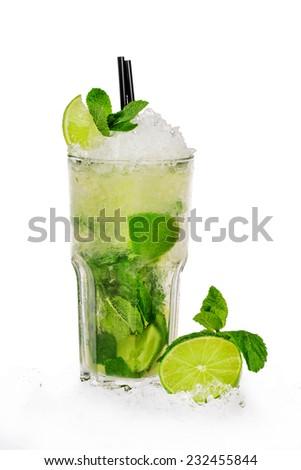 mojito cocktail - stock photo