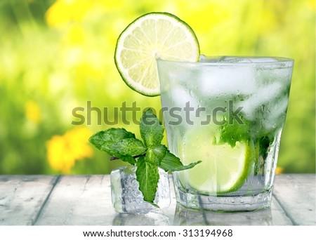 Mojito Cocktail. - stock photo