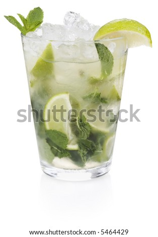 Mojito Cocktail - isolated on white