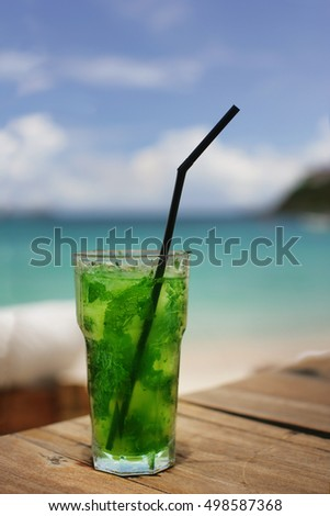 Mojito on the Island of St.Barthelmey