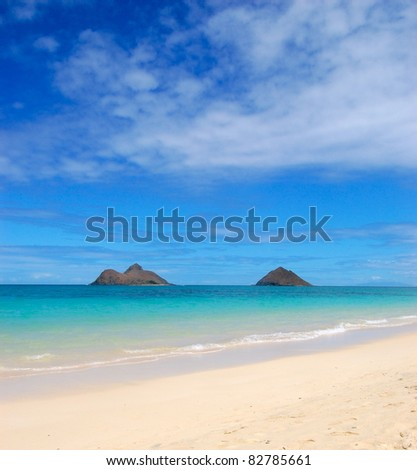 Mokulua Islands Lanikai Beach Hawaii