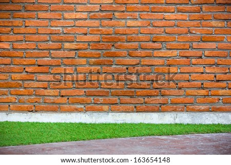 Molder brick wall background