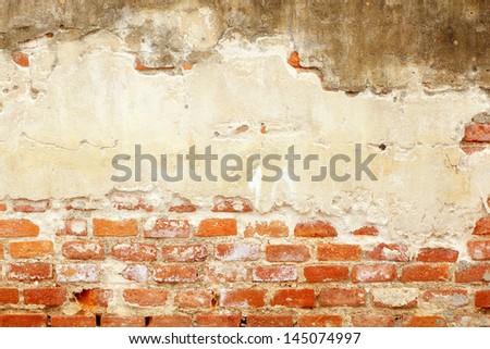 Molder wall brick background