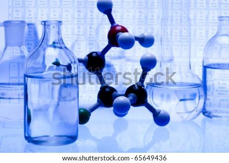 Molecular construction - stock photo