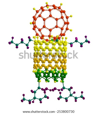 Molecular nanorobot - abstract structure - stock photo