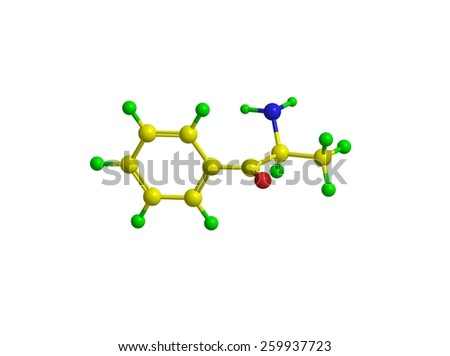 Molecular structue of cathinone - drug that enhances the activity of the central nervous system