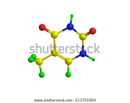 Molecular structure of nucleobase thymine