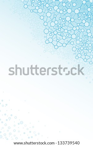 Molecular structure scientific vertical background raster - stock photo