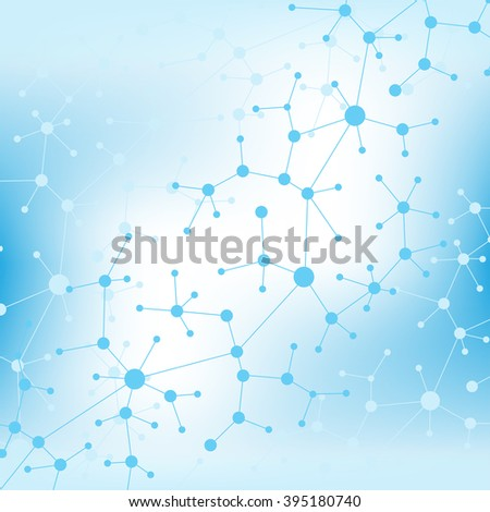 Molecule and communication with connected dots and lines. DNA molecule structure. Graphic background for your design , Illustration.