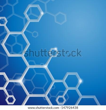 Molecule background.   - stock photo