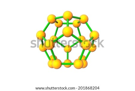 molecule 3d icon on white background - stock photo