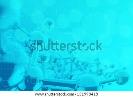 molecule 3d medical background - stock photo