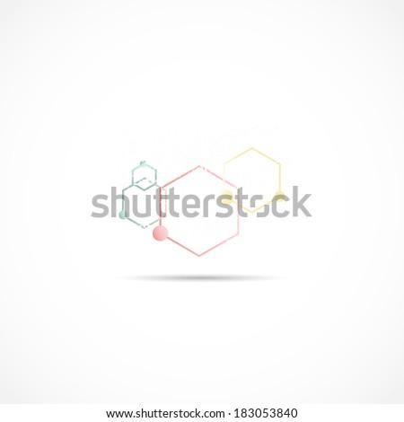 Molecule Illustration - stock photo