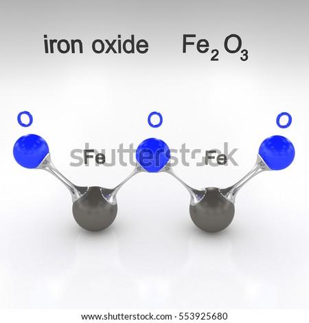 Molecule Iron Oxide 3 D Illustration Stock Illustration 553925680