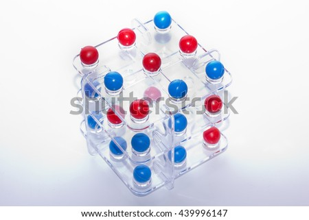 Molecule structure Isolated on a White Background.